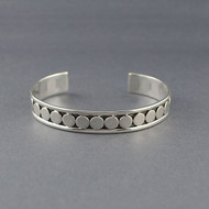 Sterling Silver Retro Circles Cuff