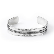 Sterling Silver Abstract Rays Cuff