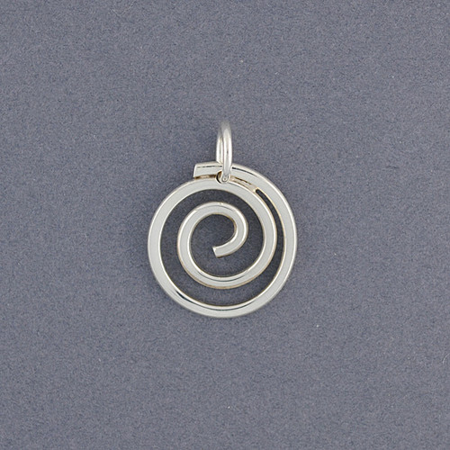 Sterling silver spiral pendant green river silver co sterling silver spiral pendant image 1 aloadofball Images