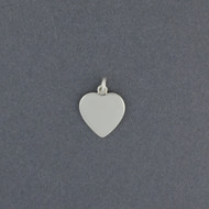 Sterling Silver Engravable Heart Pendant