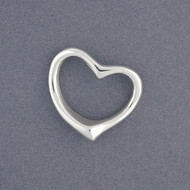 Sterling Silver Tiffany Inspired Open Heart Pendant