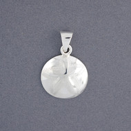 Sterling Silver Small Sand Dollar Pendant