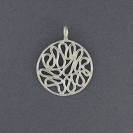 Sterling Silver Swirl in Circle Pendant