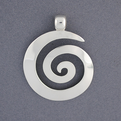 Sterling silver thick spiral pendant green river silver co sterling silver thick spiral pendant image 1 aloadofball Image collections