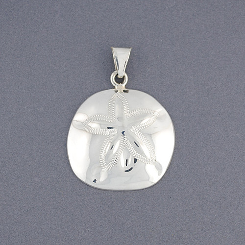 Sterling silver large sand dollar pendant green river silver co sterling silver large sand dollar pendant image 1 aloadofball Images