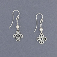 Clover Vine Pearl Earrings