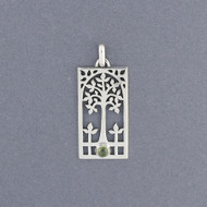 Framed Tree of Life Pendant with Stone