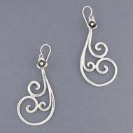 Sterling Silver Ornate Swirl Earring