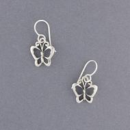 Sterling Silver Butterfly Earring