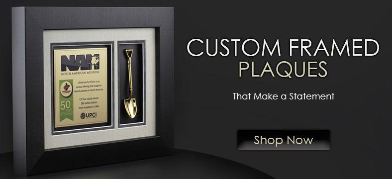 Custom framed plaques that make a statement