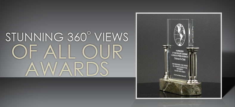 Stunning 360 degree views of all our awards.