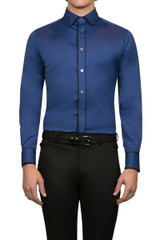 Rory Piped Shirt Blue