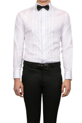Rory Ruffle Shirt White
