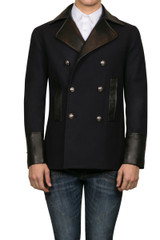 Hank Military Coat Black