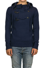 Axel Hooded Knit Navy