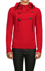 Axel Hooded Knit Red