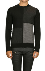 Axel Patchwork Knit Black/Grey