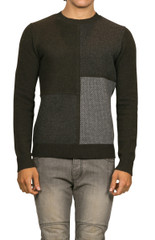 Axel Patchwork Knit Military/Gunmetal