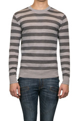Toby Stripe Knit Grey Charcoal