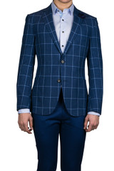 Juan Window Pane Blazer
