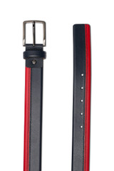 Belo Two Tone Belt Leather Navy/Red