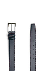 Vila Hand Stitch Belt Leather Navy