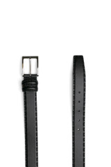 Vila Hand Stitch Belt Leather Black