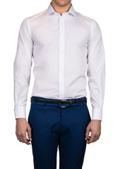 Natal Cut Away Collar Shirt White