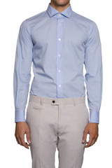Natal Cut Away Collar Shirt Sky