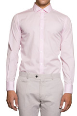 Natal Cut Away Collar Shirt Pale Pink