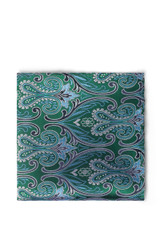 John Paisley Pocket Square Green Sky