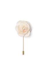 Bryce Silk Lapel Pin Ivory