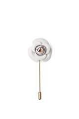 Cory Metal Lapel Pin White