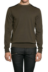 Jay Mesh Shoulder Knit Military