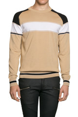 Jay Stripe Panel Knit Beige