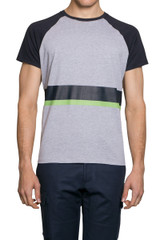 Roxo Block Stripe Tee Grey