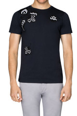 Rick Embroidered Tee Navy