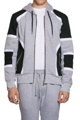 Gill Biker Sweat Jacket Grey Marle