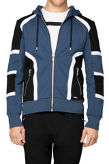 Gill Biker Sweat Jacket Denim