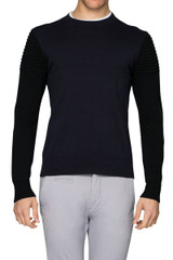 Joe Biker Sleeve Knit Navy