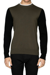 Joe Biker Sleeve Knit Military