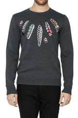 Alfie Feather Knit Charcoal