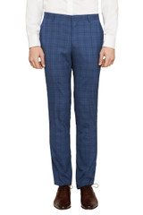 Jet Stretch Check Pant Steel/Blue