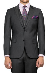 Cole Peak Lapel Jacket Charcoal