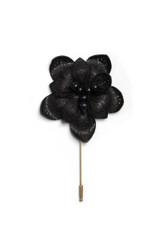 Laser Leather Flower Pin
