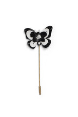 Trio Butterfly Pin Black / White