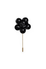 Slick Flower Pin Black