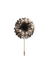 Metallic Leather Flower Pin