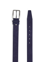 Jerome Suede Belt Navy