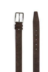 Jerome Suede Belt Dark Brown